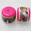 Resin Beasds,Lead-free, Cylinder Size:15x12.5mm, Sold by PC