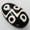 Tibet Resin Beads, Handmade,Teardrop 38x24x17mm Sold by PC