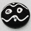 Tibet Resin Beads, Handmade, Flat Round 44x4mm Sold by PC