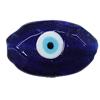 Turkish Handmade Lampwork Glass Evil Eye Beads, 38x24mm Hole:2.5mm, Sold by Bag