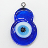 Turkish Handmade Lampwork Glass Evil Eye Pendant, Calabash 27x20mm Hole:2mm, Sold by Bag