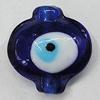 Turkish Handmade Lampwork Glass Evil Eye Beads, Lantern 20x19mm Hole:1.5mm, Sold by Bag