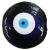 Turkish Handmade Lampwork Glass Evil Eye Beads, Flat Round 37x37mm Hole:1.5mm, Sold by Bag