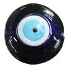 Turkish Handmade Lampwork Glass Evil Eye Beads, Flat Round 32x32mm Hole:1.5mm, Sold by Bag
