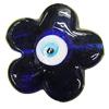 Turkish Handmade Lampwork Glass Evil Eye Pendant, Flower 32mm Hole:2.5mm, Sold by Bag