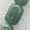 Green Aventurine Beads, Drum, 10x14mm, Hole:Approx 1.5mm, Sold per 15.7-inch Strand