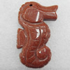 Gold Sand Stone Pendant, Animal, 30x50x11mm, Hole:Approx 1.5mm, Sold by PC