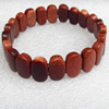 Gold Sand Stone Bracelet, 15x19mm, Length:Approx 70mm, Sold per 15.7-inch Strand