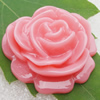 Resin Cabochons, NO Hole Headwear & Costume Accessory, Flower, About 32mm in diameter, Sold by Bag