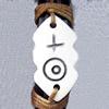 Tibetan Yak Bone Chain Bracelet,17x32mm,Sold by Dozen