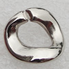 Jewelry findings, CCB Plastic Donut Platina Plated, 18x16mm, Sold by Bag