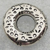 Jewelry findings, CCB Plastic Donut Platina Plated, O:21mm I:8mm, Sold by Bag