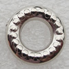 Jewelry findings, CCB Plastic Donut Platina Plated, O:16mm I:8mm, Sold by Bag