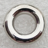 Jewelry findings, CCB Plastic Donut Platina Plated, O:13mm I:6mm, Sold by Bag