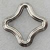 Jewelry findings, CCB Plastic Donut Platina Plated, 48mm Hole:1mm, Sold by Bag