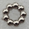 Jewelry findings, CCB Plastic Donut Platina Plated, O:11mm I:5mm, Sold by Bag