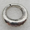 Jewelry findings, CCB Plastic Donut Antique Silver, O:25mm I:14mm Hole:1mm, Sold by Bag