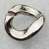 Jewelry findings, CCB Plastic Donut Platina Plated, 24x22mm, Sold by Bag