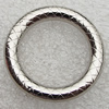 Jewelry findings, CCB Plastic Donut Platina Plated, O:30mm I:20mm, Sold by Bag