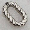 Jewelry findings, CCB Plastic Donut Platina Plated, 31x20mm, Sold by Bag
