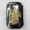 Non-Magnetic Hematite Pendant, The Twelve Warriors, Rabbit, 22x35mm, Hole:Approx 2mm, Sold by Bag