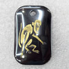 Non-Magnetic Hematite Pendant, The Twelve Warriors, Monkey, 22x35mm, Hole:Approx 2mm, Sold by Bag