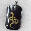Non-Magnetic Hematite Pendant, The Twelve Warriors, Snake, 22x35mm, Hole:Approx 2mm, Sold by Bag