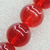 Imitate Gemstone Glass Beads Jade Dyed Beads, Round 6mm Hole:1mm, Sold Per 32-Inch Strand