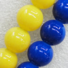 Imitate Gemstone Glass Beads Jade Dyed Beads, Round 12mm Hole:1.5mm, Sold Per 32-Inch Strand