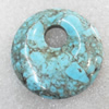 Turquoise Pendant,Flat Round, 45mm, Hole:Approx 11mm, Sold by PC
