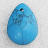 Turquoise Pendant,Teardrop, 24x34mm, Sold by PC