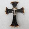 Tibetan Yak Bone Pendant, Cross 77x67mm Hole:2.5mm,Sold by Bag