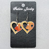 Ceramics Earring, Heart 25x25mm, Sold by Group