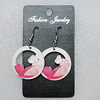 Ceramics Earring, Flat Round 32mm, Sold by Group