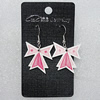 Ceramics Earring, Bowknot 29x27mm, Sold by Group