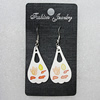 Ceramics Earring, 35x20mm, Sold by Group