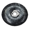 Imitation Wood Acrylic Beads, Flat Round 30mm Hole:4mm, Sold by Bag