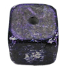 Imitation Wood Acrylic Beads, Square 21mm Hole:3mm, Sold by Bag