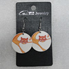 Ceramics Earring, Flat Round 29mm, Sold by Group