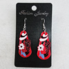 Ceramics Earring, 38x18mm, Sold by Group