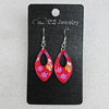 Ceramics Earring, Flat Horse Eye 29x16mm, Sold by Group