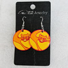 Ceramics Earring, Flat Round 30mm, Sold by Group