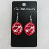 Ceramics Earring, 26x21mm, Sold by Group