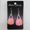 Ceramics Earring, Leaf 36x20mm, Sold by Group