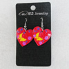 Ceramics Earring, Heart 26mm, Sold by Group