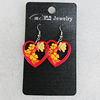 Ceramics Earring, Heart 25mm, Sold by Group