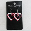 Ceramics Earring, Heart 26x25mm, Sold by Group