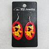 Ceramics Earring, Flat Oval 36x21mm, Sold by Group