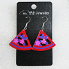 Ceramics Earring, Triangle 33x29mm, Sold by Group