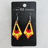 Ceramics Earring, 38x20mm, Sold by Group